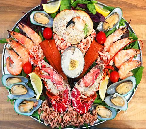 Seafood Platter at Marc Hotel Passer Baroe
