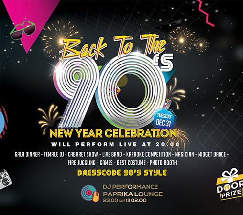 Back To 90s New Years at Rinjani Ballroom-Hariston Hotel & Suites