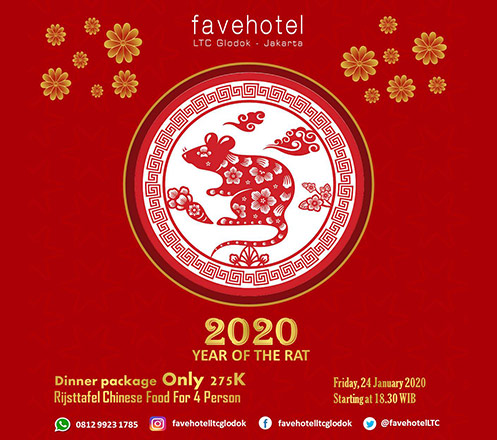 Chinese New Year Dinner Package For 4 Person at Favehotel LTC Glodok