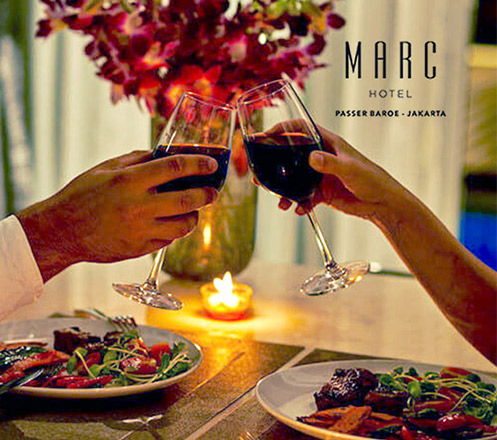 Valentine Dinner for Couple (2 Person) at Marc Hotel Passer Baroe