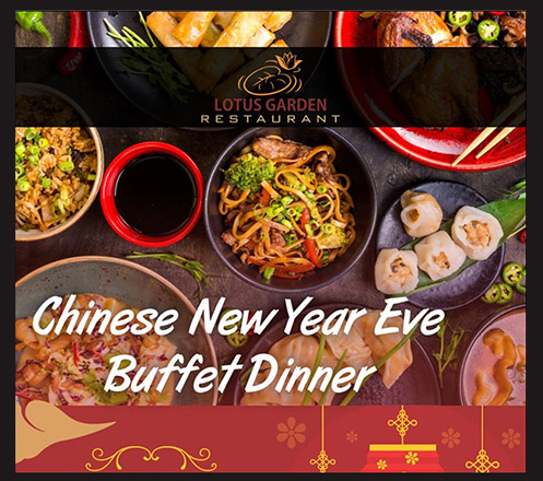 Chinese New Year Eve Buffet Dinner at Lotus Garden Restaurant