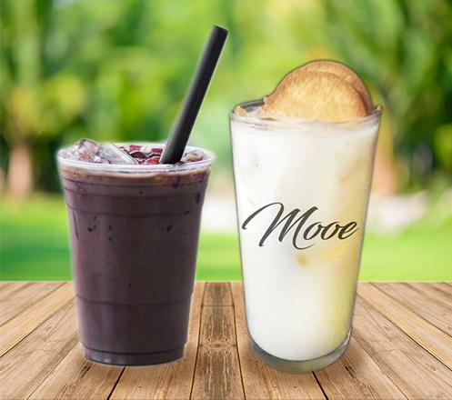 1 Milky Roegal & Iced Milky Chocolate dari Mooe Dessert & Coffee