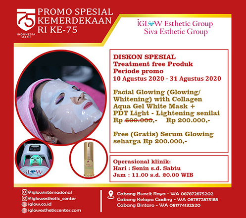iGLOW Facial Glowing with Collagen Aqua Gel White Mask by Siva Esthetic