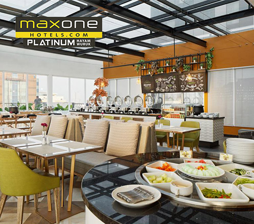 Breakfast Buffet at Skymax Rooftop - Maxone Platinum Hayam Wuruk