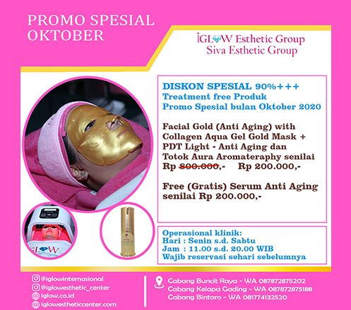 iGLOW Facial Gold (Anti Aging) by Siva Esthetic