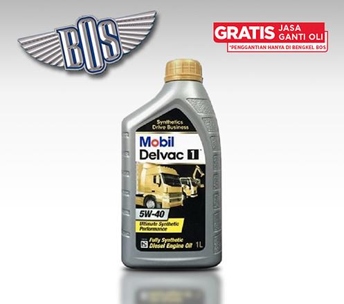 Mobil Delvac 1 (5W-40) + Gratis Jasa Ganti Oli & Check-up