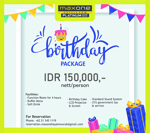 Birthday Package at Skymax Rooftop - Maxone Platinum Hayam Wuruk 02