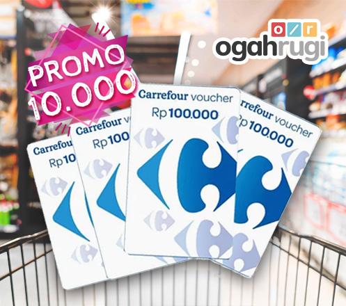 Voucher Belanja Carrefour Senilai Rp 300.000