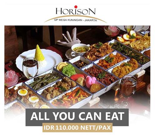 Lunch & Dinner Buffet at Teratai Restaurant, Horison GP Mega Kuningan