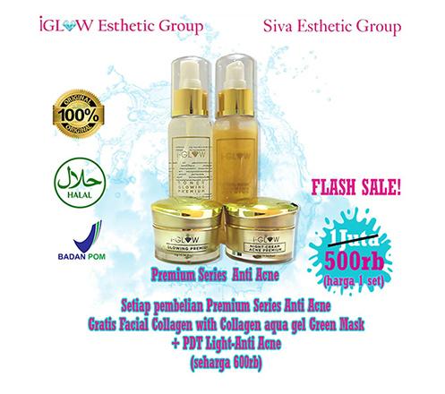 iGLOW Premium Series Anti Acne (1 Set) + Treatment