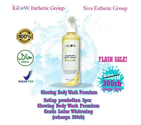 iGLOW Glowing Body Wash Premium (3 Pcs) + Treatment by Siva